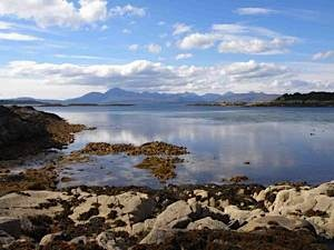 Black and red cuillin from Sleat coast