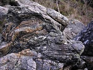 Severely-crumpled-metamorphic-rock-by-Moine-Thrust-Kirkton-Lochalsh